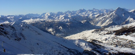 Sestriere panorama, Italy