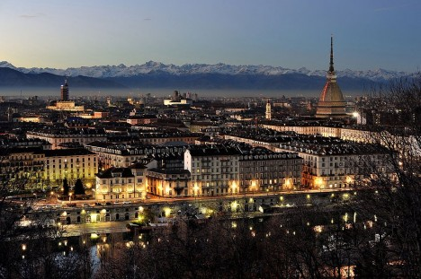 Turin and Alps, Piedmont, Italy