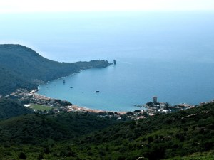 Giglio island from its hills, Tuscany, Italy