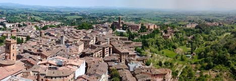 View of Siena from Campanile del Mangia, Tuscany, Italy