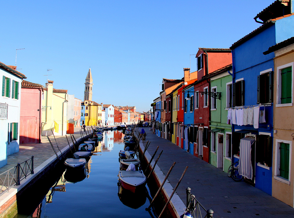 Afternoon on Burano Island, Veneto, Italy