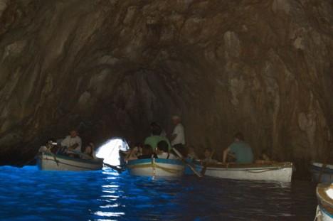Inside Blue Grotto, Grotta Azzura, Capri, Campania, Italy