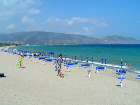 Empty Sicilian Beach in June, Italy