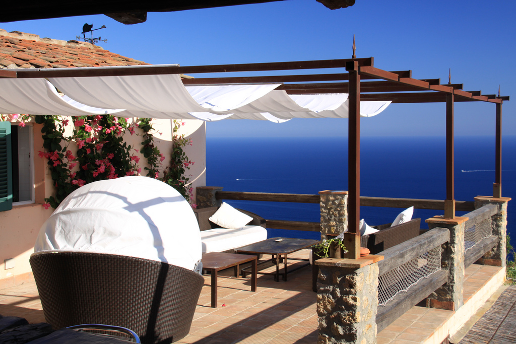 Great sea view from Tuscan villa