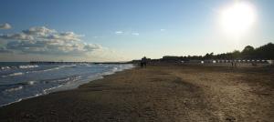 Lido beach in Venice, Veneto, Italy