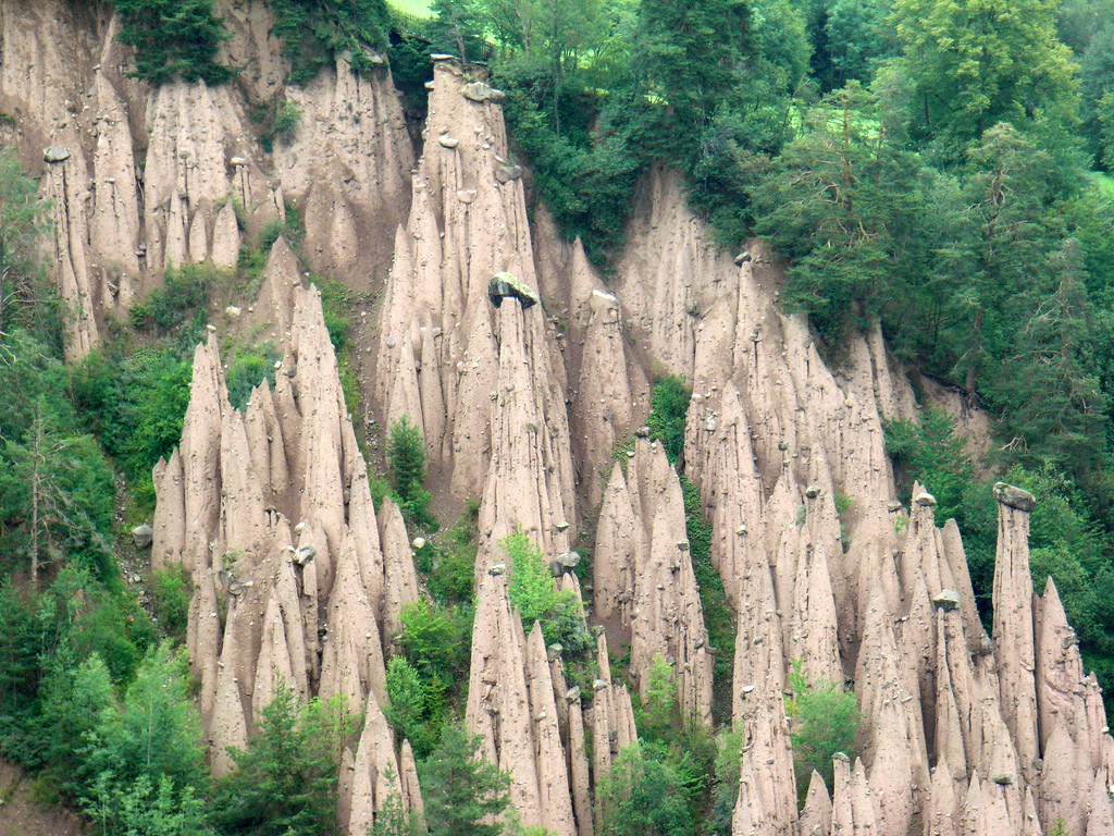 ritten earth pillars  natural pyramids  in trentino