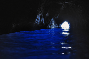 The hole to Blue Grotto, Capri island, Campania, Italy