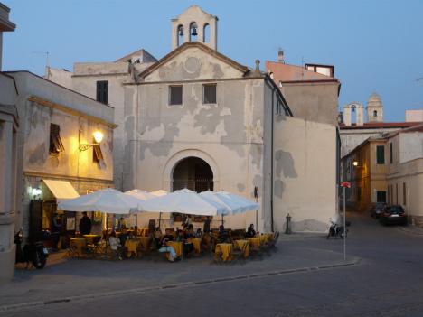 Alghero bar, Sardinia, Italy