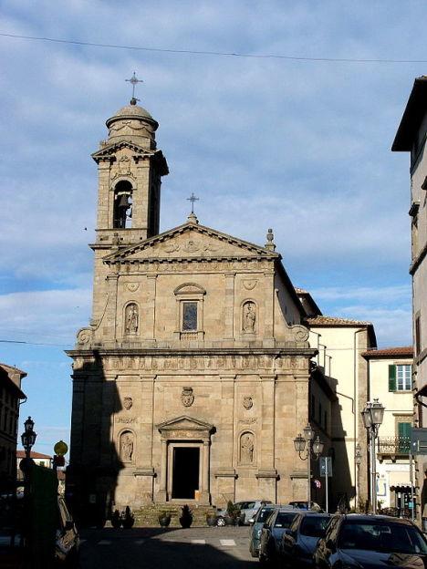 Church in Castel del Piano, Tuscany, Italy