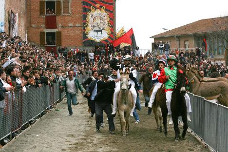 Palio dei Somari, Torrita di Siena, Italy