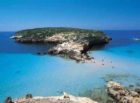 Rabbit isle, Lampedusa, Sicily, Italy