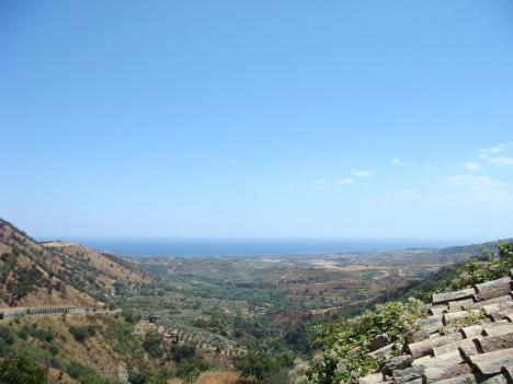Surrounding countryside of Soverato, Calabria, Italy