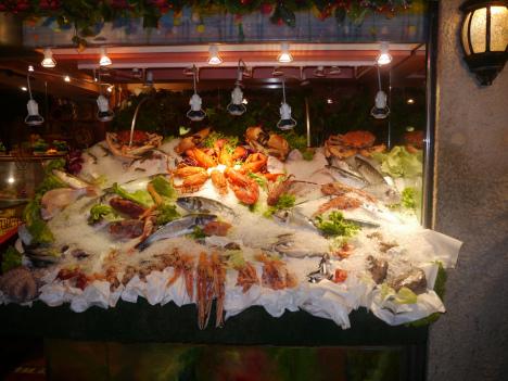 Seafood restaurant in Venice, Veneto, Italy