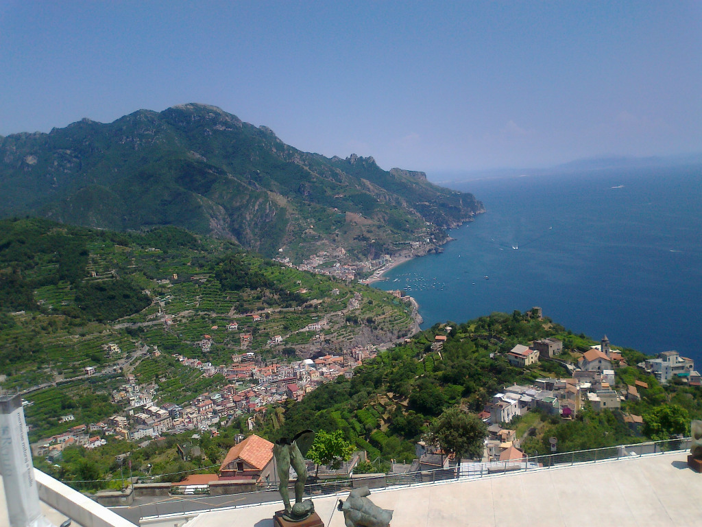 Views from Ravello of Maiori and Minori, Amalfi Coast, Campania, Italy