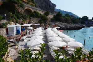 Balzi Rossi Beach, Liguria, Italy