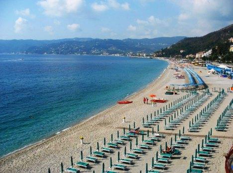 Bergeggi beach, Liguria, Italy
