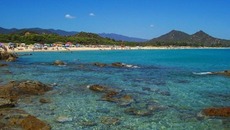 Cala Sinzias beach, Sardinia, Italy