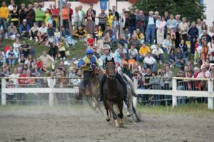 Horse race Palio di Feltre, Veneto, Italy