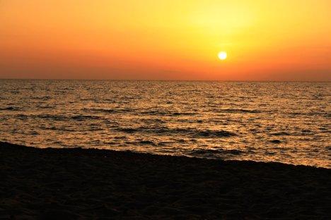 Sunset at Is Arenas, Sardinia, Italy