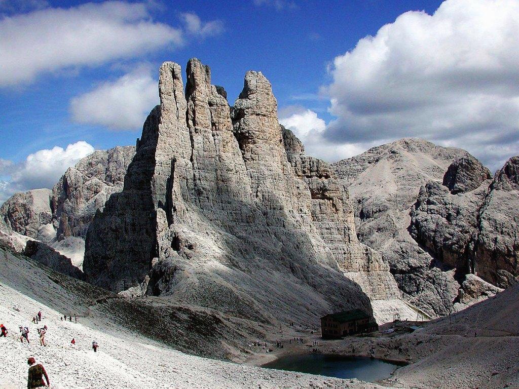 The Torri del Vaiolet, East Trentino, Dolomites, Italy