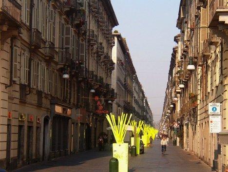Via Garibaldi, Turin, Piedmont, Italy