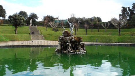 Fountain of Neptune in Boboli gardens, Florence, Italy