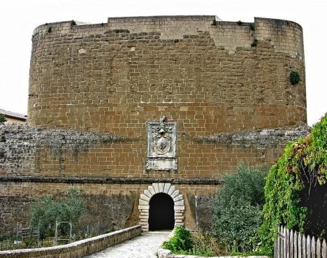 Entrance to Fortezza Orsini, Sorano, Tuscany, Italy