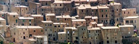 Magic village of Sorano, Tuscany, Italy