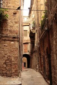 Narrow streets of Volterra, Tuscany, Italy