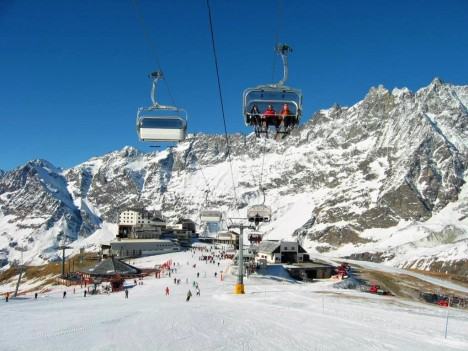 Cervinia ski resort, Aosta, Italy
