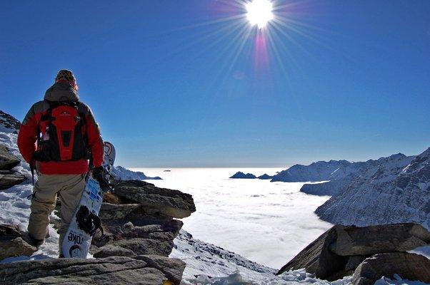 Alagna Valsesia ski resort, Piedmont, Italy