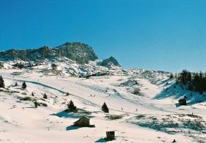 Skiing in Alta Badia, Dolomites, South Tyrol, Italy