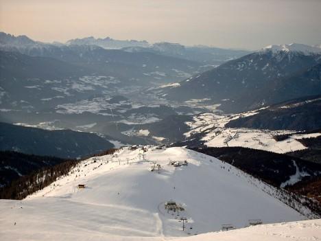 Skiing in Gitschberg-Jochtal (Monte Cuzzo), Italy