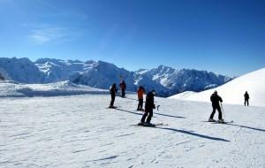 Skiing in Passo del Tonale, Lombardy/Trentino, Italy