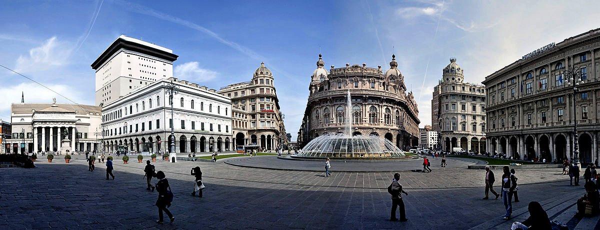 Piazza di Ferrari, Genoa, Liguria, Italy