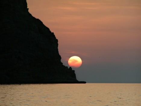 Great sunset taken in Oliveri (Messina), Sicily, Italy