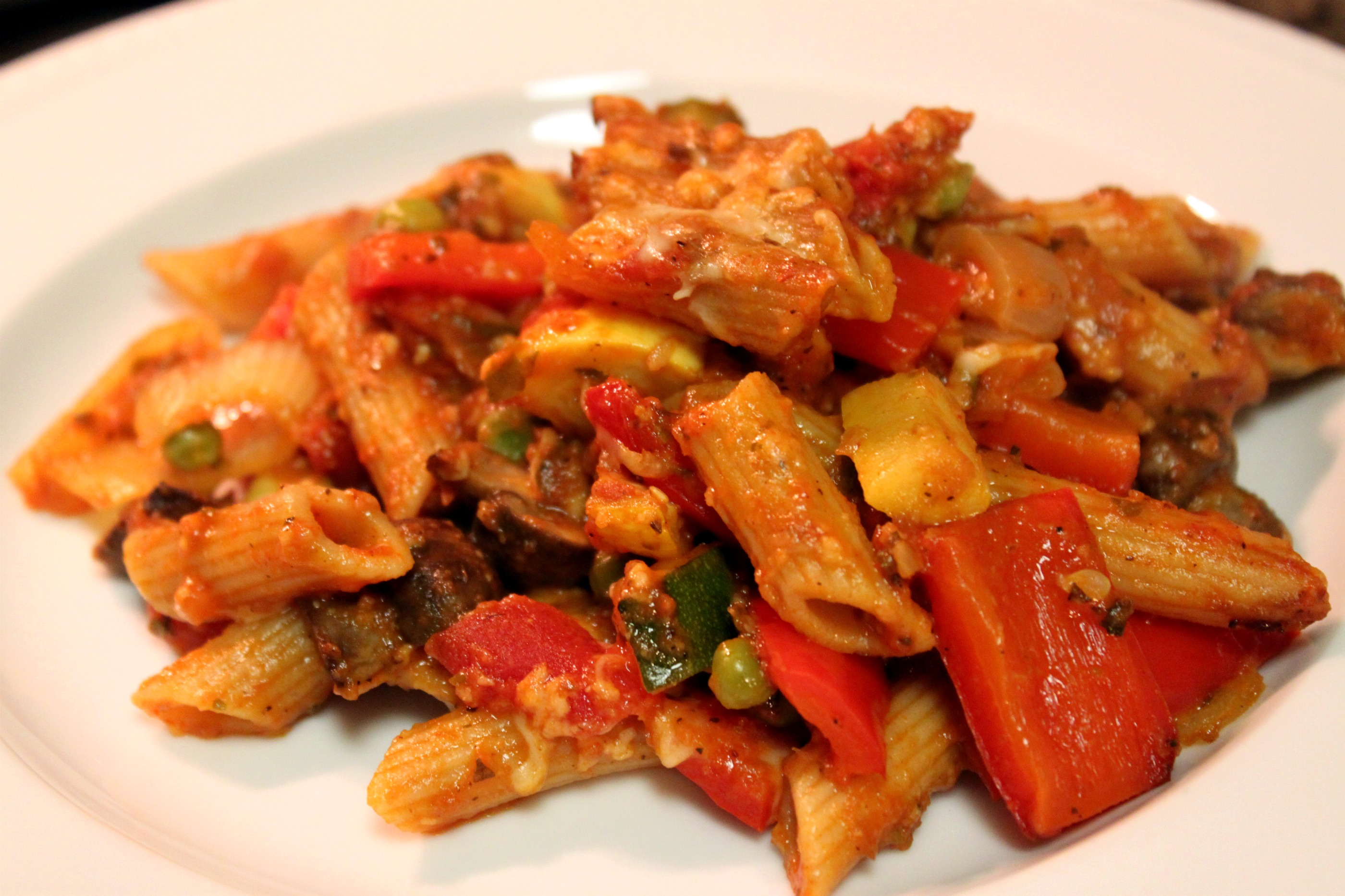 Baked Penne with Roasted Vegetables