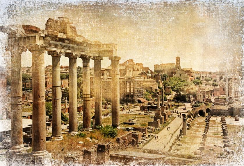 Roman forums - retro picture